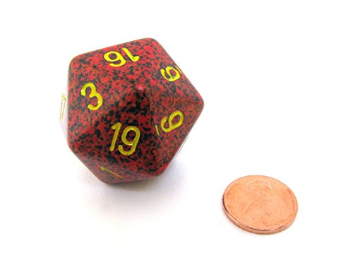 Jumbo d20 Counter - Speckled 34mm Dice: Mercury by Chessex