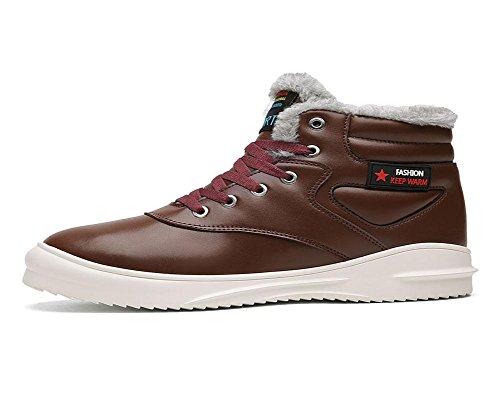 Brown Élevée Imperméable De Hommes Grande Neige Hiver Exercice Loisirs Taille Aide Plus Garde Coton Cachemire Chaud Chaussures Au TwwAqUx