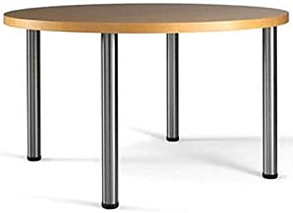 28 Office Height Table Legs Set Of 4 Brushed Steel Furniture