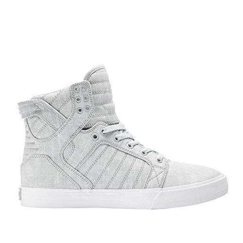 Supra Men's Skytop Washed Grey Canvas Sneaker Men's 8.5, Women's 10 D ()
