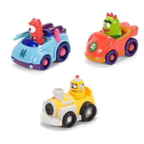 "Zoofy International Yo Gabba Gabba 4"" Figure Vehicle Muno Plex Brobee Set of 3"