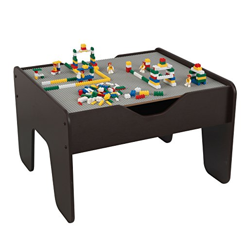 KidKraft 2-in-1 Activity Table with Board (Gray/Espresso) - Limited - Kids Lego Older Table For