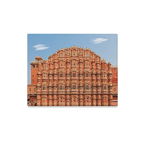 WIEDLKL Wall Art Painting Facade of Hawa Mahal Palace in Jaipur Rajasthan Prints On Canvas The Picture Landscape Pictures Oil for Home Modern Decoration Print Decor for Living Room