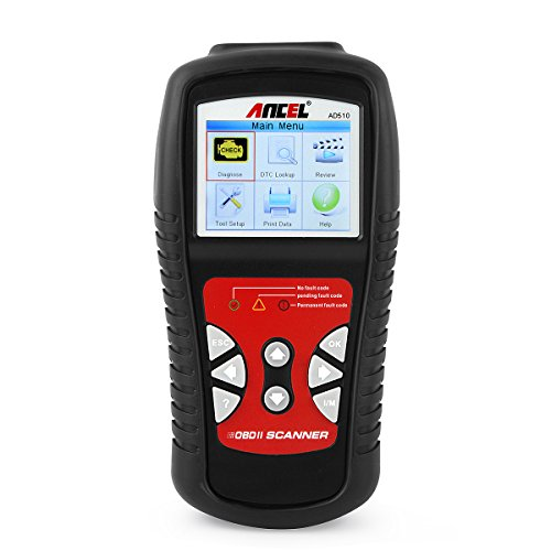 ANCEL AD510 Professional OBD II Scanner Car Engine Fault Code Reader Automotive Diagnostic Scan Tool with Battery Detection Update Online, Read and Clear Codes for 1996 or Newer OBD2 Protocol Vehicles - Code Car