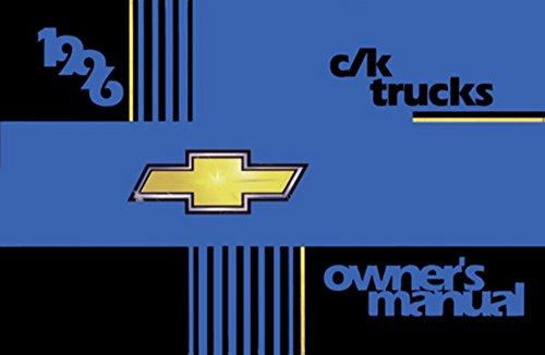 Chevrolet C/k Truck Owners Manual - bishko automotive literature 1996 Chevrolet C K Pickup Truck Owners Manual User Guide Reference Operator Book