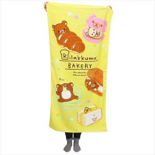 BLY Rilakkuma Bath Towel (Large Size) Rilakkuma Bread Festival 70x140cm From Japan