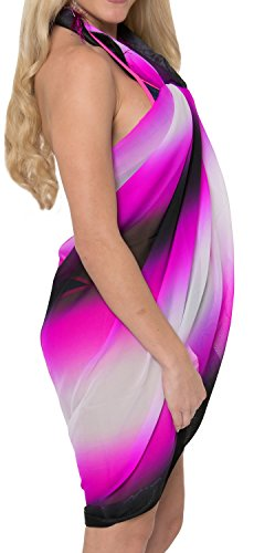 La Leela Super Léger pura mousseline plage femmes jacquard couvrir sarong Blanco Tranquilo