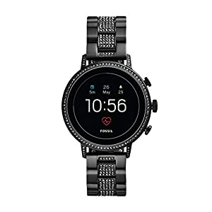 Fossil Women's Gen 4 Venture HR Stainless Steel Touchscreen Smartwatch with Heart Rate, GPS, NFC, and Smartphone…