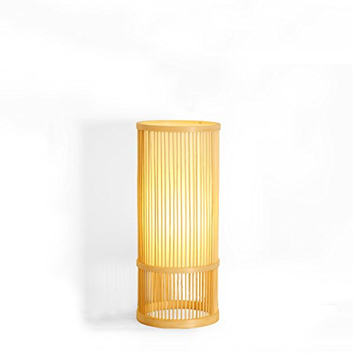 (KMYX Modern Village Manual Preparation Bamboo Art Table Lamp Study Reading Lights Bedroom Bedside Lamp Desk Lights Creative)