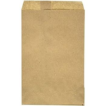 Amazon.com: 100 Pack Brown Kraft Paper Bags, 6