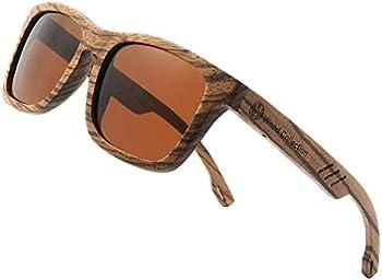 Skadino Handmade Bamboo Wooden Unisex Sunglasses with Polarized Lenses