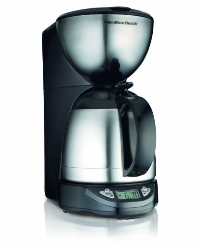 - Hamilton Beach 10-Cup Coffee Maker, Programmable with Thermal Insulated Carafe (49855)