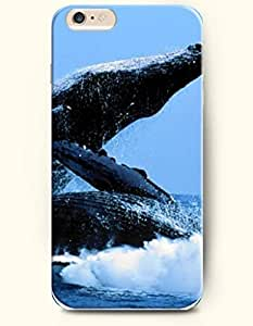 iPhone 6 Case,OOFIT iPhone 6 (4.7) Hard Case **NEW** Case with the Design of Whale Flapping the Water - ECO-Friendly Packaging - Case for Apple iPhone iPhone 6 (4.7) (2014) Verizon, AT&T Sprint, T-mobile by Maris's Diary