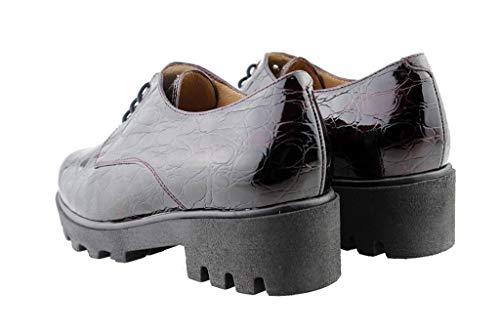 Cuir bordeaux Confortables Amples Piesanto Confort 175551 Chaussure Femme En À Burdeos Lacets wncqPI6Onx