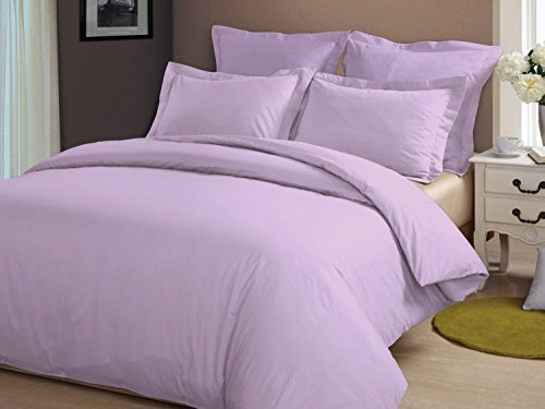 Clara Clark Grand 1200 Collection Solid Bed Sheet Set, Full, Lavender (Clara Clark Silk Sheets)