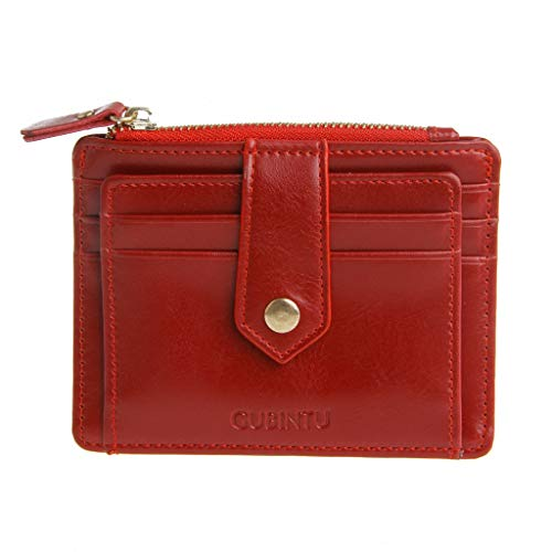 hibyebuying Money Clip, Faux Leather RFID Purse Wallet Money Clip Credit Card Holder ID Business (Red)