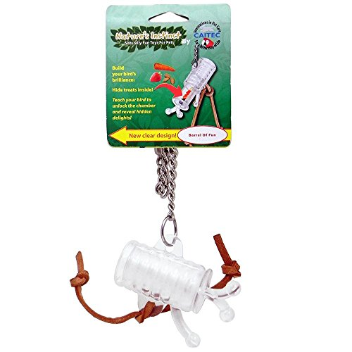 Nature's Instinct Barrel of Fun Clear Bird Toy by Caitec Corp