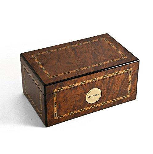 - MusicBoxAttic Gorgeous Burr Thuya 72 Note Classic Style Framed Inlay Reuge Music Box - Swiss Bolero (Ravel) - 3 Parts