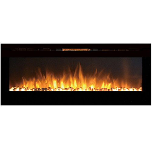 Cheap Gibson Living GL2060WS Reno 60 Inch Pebble Built-In Recessed Wall Mounted Electric Fireplace Black Friday & Cyber Monday 2019