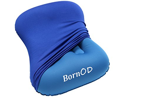 Born Outdoors Compact and Ultralight Inflatable Pillow with Removable Pillow Case by Born Outdoors