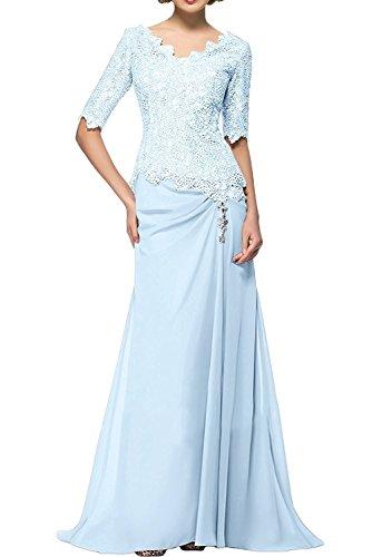 La Braut Promkleider Langarm Beige Blau Spitze Partykleider Ballkleider Neu Abendkleider Himmel Herrlich Brautmutterkleider mia ZrRw6Z