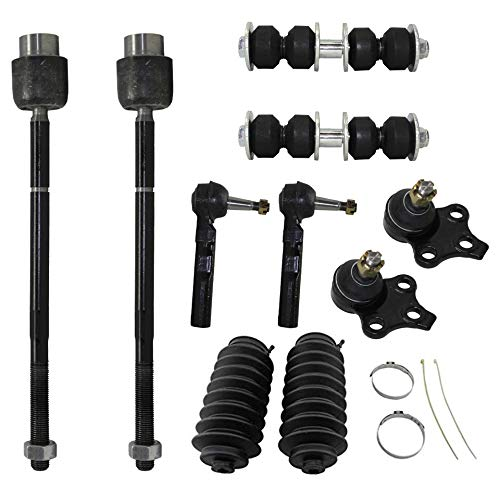 Detroit Axle - New 10-Piece Front Suspension Kit - (2) Front Lower Ball Joints, (2) Front Stabilizer Sway Bar End Links, All (4) Front Inner & Outer Tie Rod End -