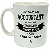 Funny Mug For Men - By Day An Accountant At Night The Worlds Best Dad - Gift For Men - Fathers Day Gift by The Supreme Gift Company