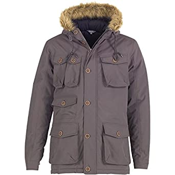 2fd6d209b Worldwide Clothing Fluid Mens Parka Jacket Charcoal - Charcoal - XS ...