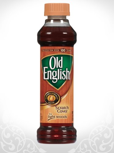 Old English Scratch Cover Polish For Light Woods 8oz. : eHouseholds.com