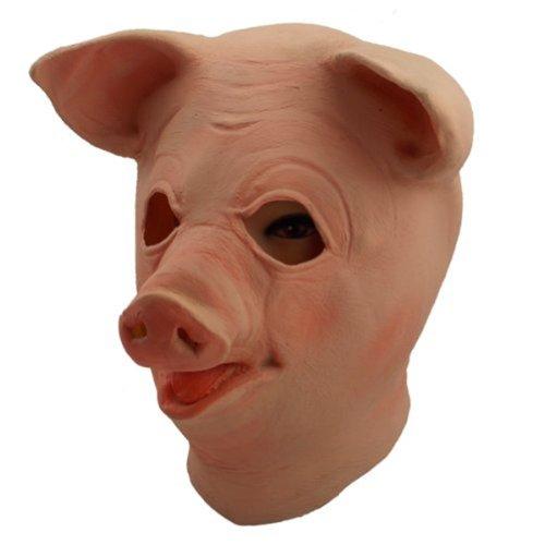 Halloween Pig Masks (Gmasking Big Eyes Latex Pig Head Mask)