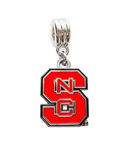 (Heavens Jewelry NC STATE NCSU NORTH CAROLINA STATE UNIVERSITY WOLFPACK TEAM CHARM PENDANT FOR NECKLACE EUROPEAN BRACELET DIY ETC)