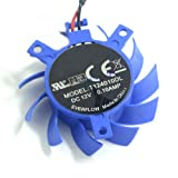 Cooling For ATI T124010DL Rotary DC Fan Brushless Video Card Fan 37mm DC12V 0.10A 23mm x 29mm x 29mm 2-Pin Cooler
