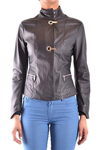 Armani Jeans Mujer MCBI025142O Negro Cuero Cazadora