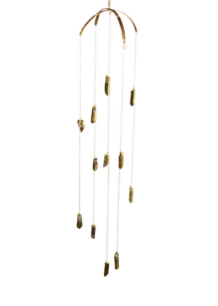 Ariana Ost Healing Bright Crystal - Pyrite Boho Mobile for New Year Home Decoration by Ariana Ost
