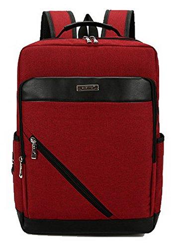 à de Mode Femme Daypack FBUFBD181034 Daypacks randonnée dos Sacs Rouge Zippers AllhqFashion E8FnqwI8