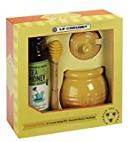 Le Creuset Stoneware Honey Pot with Savannah Bee Co. Honey