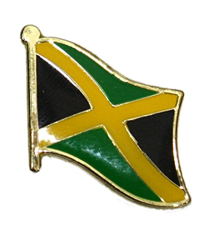 Jamaica Flag Lapel Pin - Ted and Jack - Show Your Pride in Your Nation Metal and Ceramic Lapel Pin - Jamaica