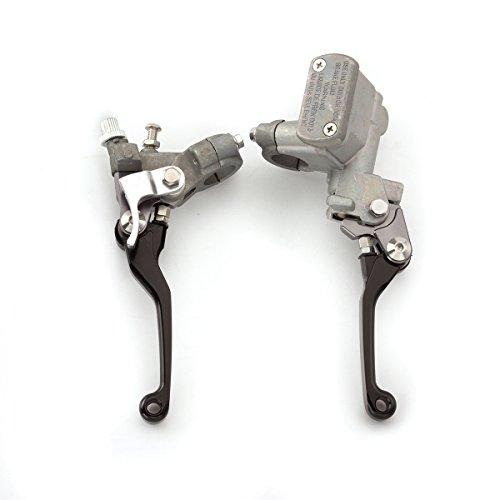 FXCNC Racing Motorcycle Brake Master Cylinder Reservoir Clutch Lever Fit For Honda CR125R/CR250R 96-07,CR500R 92-01,CRF150R 07-16,CRF250R/X 04-16,CRF450R 02-06,CRF450X 05-16