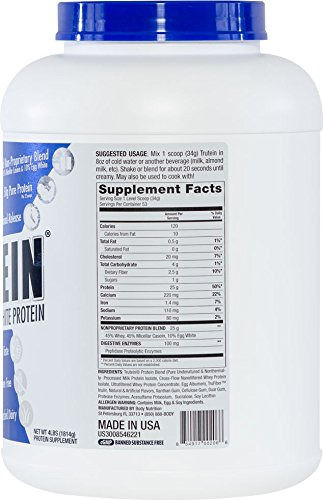 Body Nutrition Trutein Vanilla Bean 4lbs Protein Shakes Shake, Meal Replacement Drink Mix, Post Pre Workout Shake Powder.