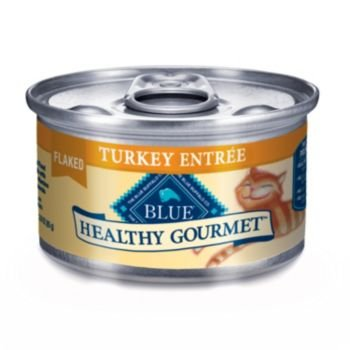 Blue Buffalo Healthy Gourmet Canned Cat Food, Flaked Turkey Entrée, (Pack of 24 3-Ounce Cans), My Pet Supplies