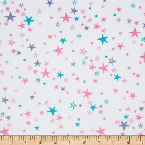 (Shannon Fabrics Shannon Minky Cuddle Starbright Fabric, Hot Pink/Iris, Fabric By The Yard)