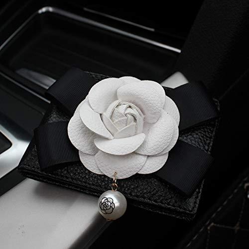 Fashion Rose Flower Women Driver License Card Holder Key case for Car Color Name Black