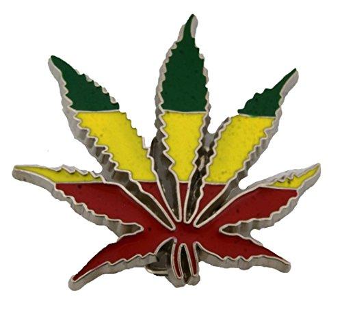 Marijuana Rasta Cannabis Rastafari Flag Pot Weed Leaf Stoner Leaves Belt Buckles (Pot Weed Leaf Rasta Die Cut Size:4.00