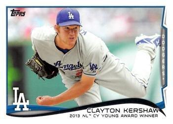 2014 Topps #604 Clayton Kershaw - Los Angeles Dodgers (NL Cy Young Award Winner)(Baseball - Young Award Cy