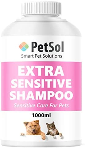 PetSol Dog Shampoo (1 Litre) Extra Sensitive Baby Powder Fresh Smelling Shampoo & Conditioner For Dogs & Cats. Mild Grooming Shampoo For Puppies, Dogs, Cats & Pets