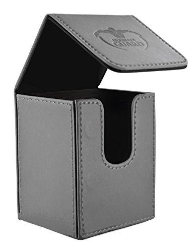 Ultimate Guard 100 Card Flip Leather Deck Case, Grey