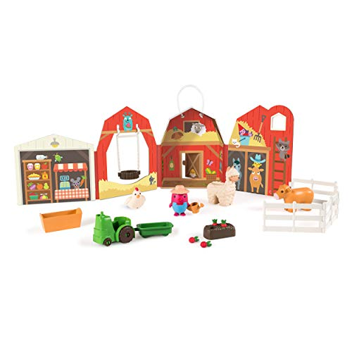 Sago Mini, Robin's Farm, Portable Playset with Figures, for Ages 3 and Up