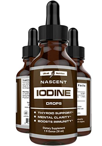 Nascent Iodine Supplement - Complete Thyroid Iodine Solution for Thyroid Support. Iodine Drops That Provide Optimum Absorption and Thyroid Health with Increased Energy.