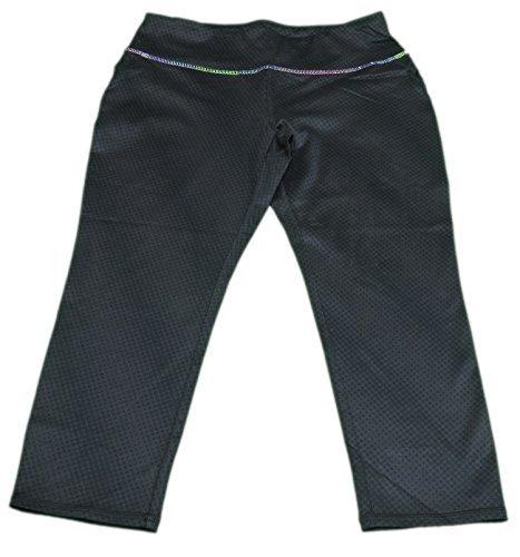 Kirkland Signature Girls Size Medium (10) Capri Athletic Pants Black by Kirkland Signature