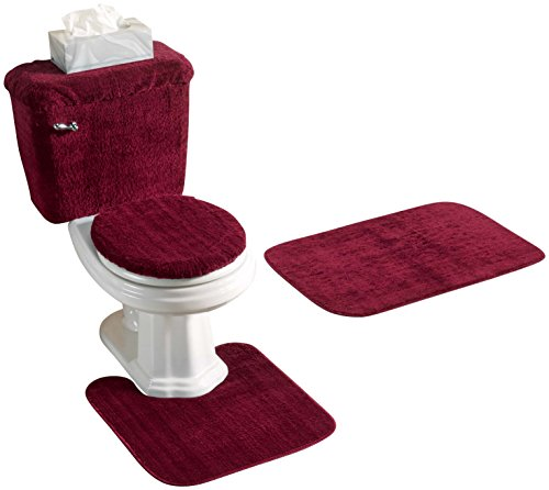 Miles Kimball Burgundy Piece Bath